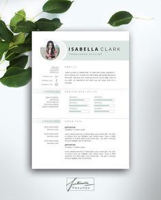 Resume Template 3 page / CV Template + Cover Letter / Instant Download for MS…