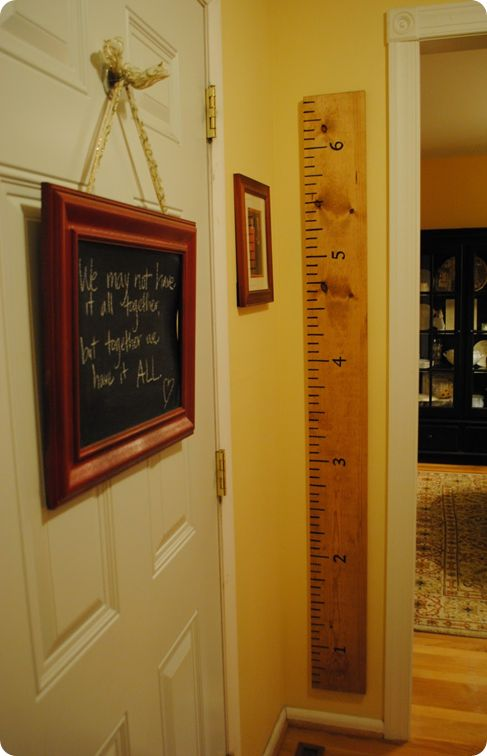 Ruler Growth Chart: The Doors, Height Charts, Cute Ideas, Wall Ruler, Ruler Growth Charts, Height Ruler, Growth Ruler, Pottery Barns, Kid