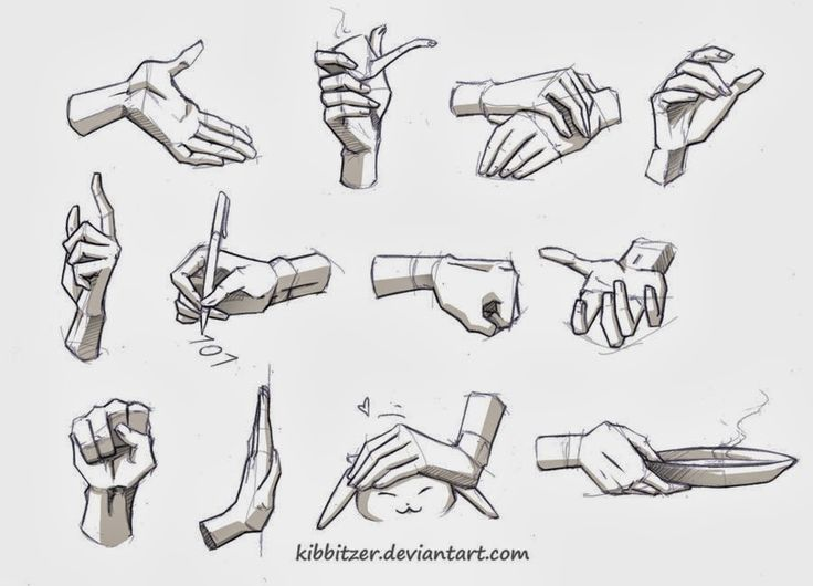 Concept Art Reference: Comic Hands Reference