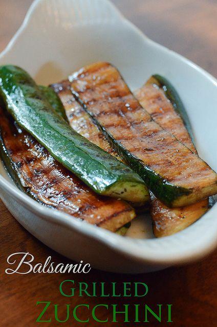 Balsamic Grilled Zucchini #sidedish #veggies #zucchini