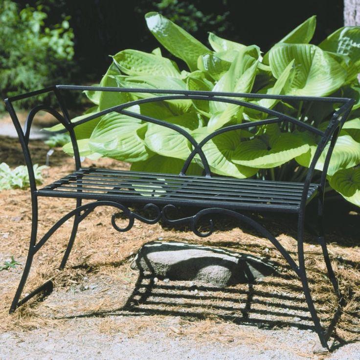 Arbor Wrought Iron Garden Bench