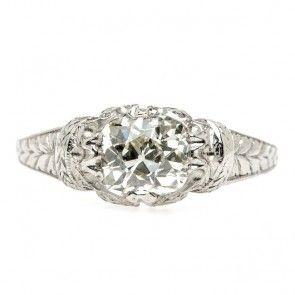 Edwardian Engagement Ring | Vintage Engagement Ring trumpetandhorn.com | $5,850