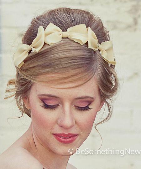 Three little bows headband for flower girl?