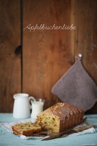 Vanille-Apfelkuchen mit Zimtguss aus der Kastenform – auf der Suche nach dem Februarglück - Zucker, Zimt und Liebe