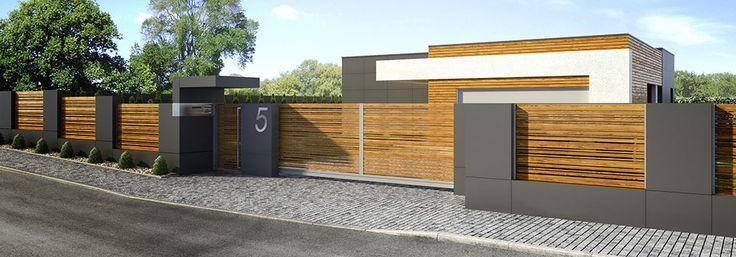 aluminiowe ogrodzenia imitujące drewno