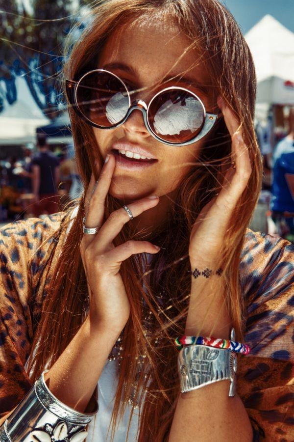 The Village Markets Summer Shoot Outfit: Designs by Dust cape, Wild Heart Jewellery accessories, Trinkit Hunter cuffs, Hattie sunglasses and Child of Wild Tattoos Photography: Joel Stafford joelstafford.com Model: Billie Edwards @billiebillie Styling: @marissabowden  & @sarah_schoeller  #tvm #thevillagemarkets #thevillagemarketsgc #markets #goldcoast