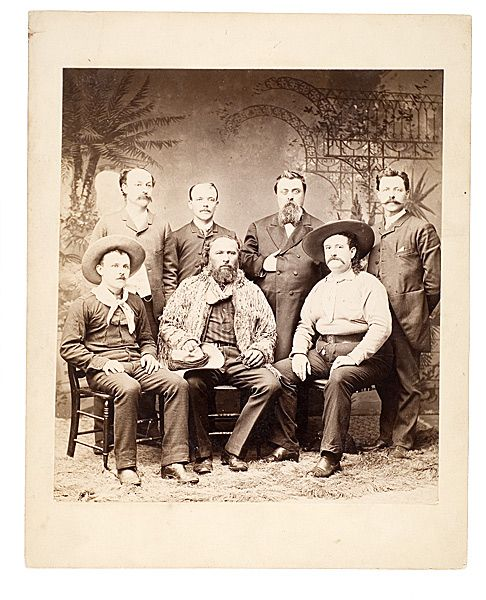 Imperial Photograph of Gabriel Dumont, John Burke and other William F. Cody Performers, - Cowan's Auctions