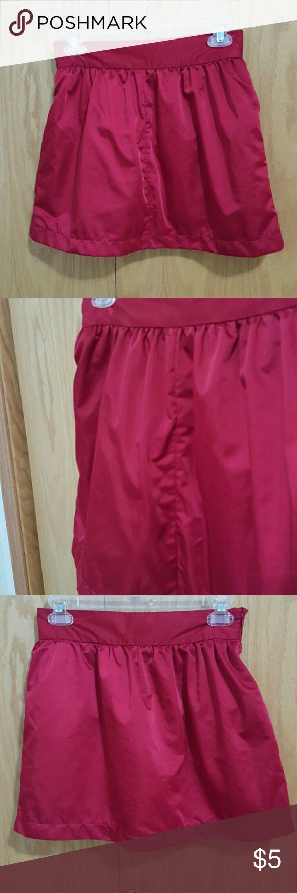 Red Silk Mini Skirt 142 Lined on the inside.  Price negotiable Forever 21 Skirts Mini