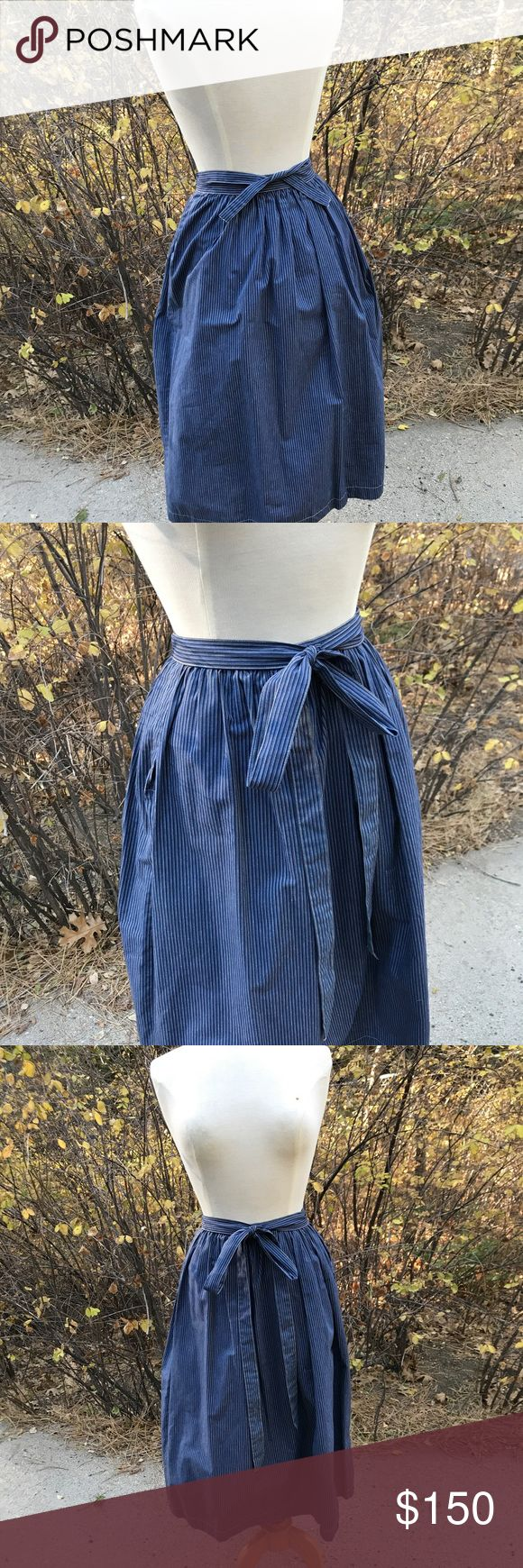 Kenzo Jap skirt with side ties Vintage Kenzo Jap size 40 Cotton Day skirt. Royal Blue and White stripe. Very popular European Style made in France. Beautiful cotton. This quality you just don't find easily. Kenzo Skirts Midi