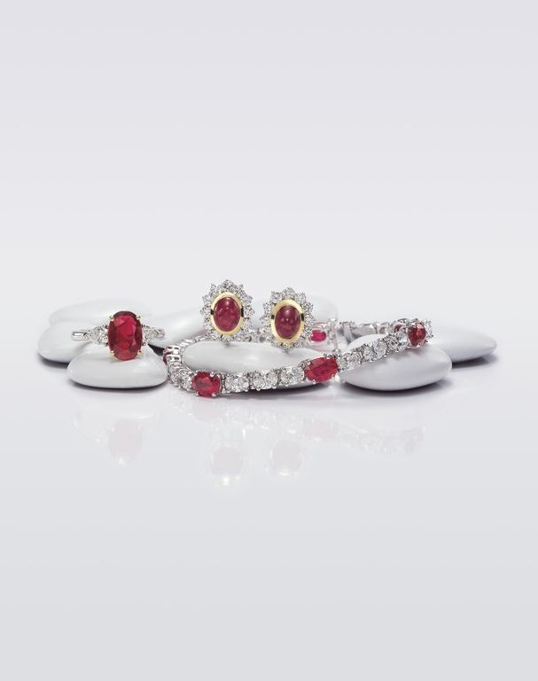 Ruby and Diamond Jewelry