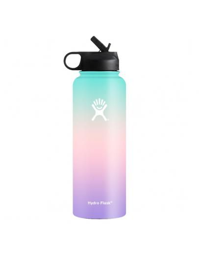 8cbfa1f90b Hydro Flask 40 oz Wide Mouth With Straw Lid Ombre Blue Pink Violet ...