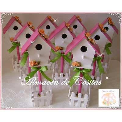 Casas De Pajaritos Decorada Souvenirs Cumpleaños - $ 1.400,00