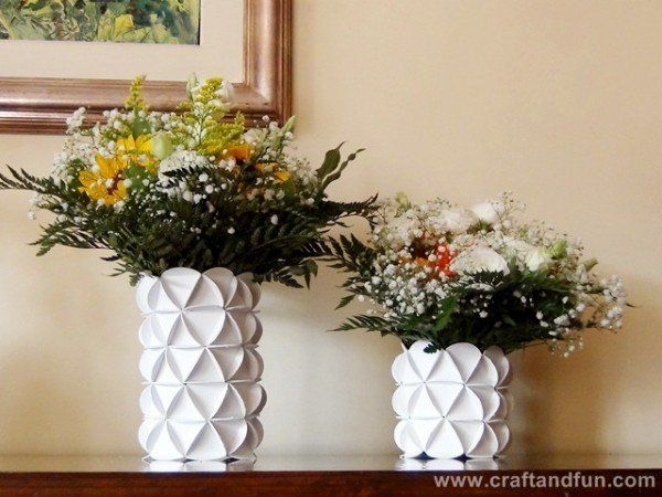Recycled cereal boxes  #CerealBoxes, #DIY, #Recycled, #Vase