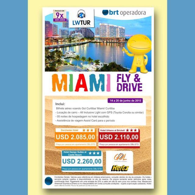 O melhor de Miami é com a Listen... Junho de 2015 já está aí!!! #voudelisten