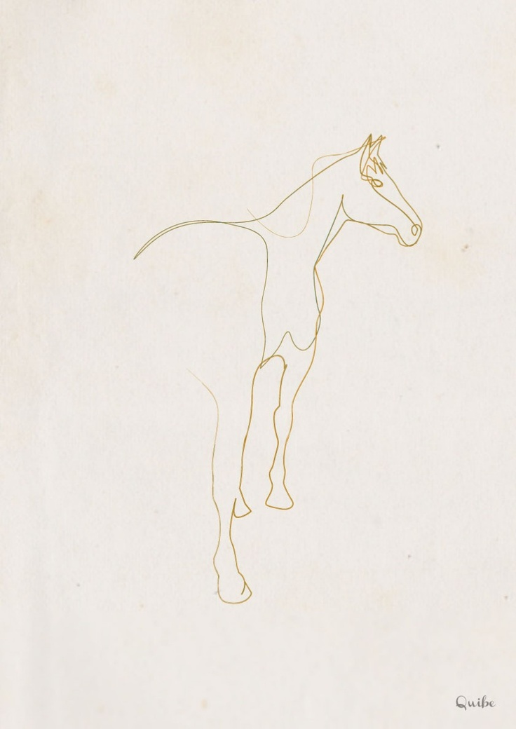 One line Horse again (Illustration: One Line Drawing by Quibe on CrispMe)