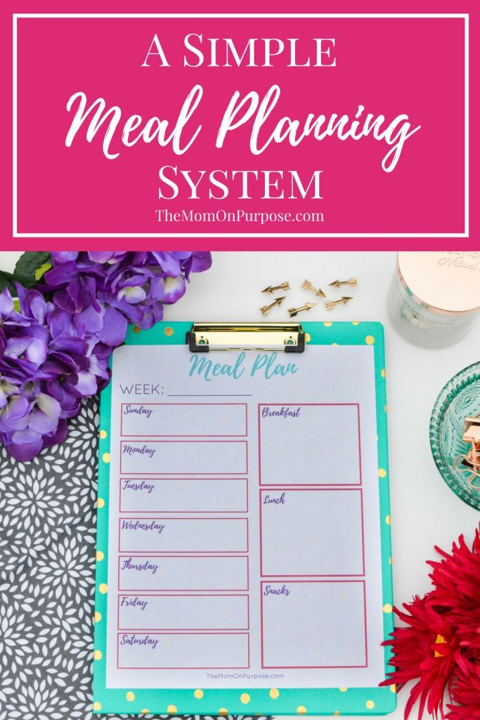 Is meal planning overwhelming you? Let's simplify things! This super simple meal planning system will show you how to create a weekly menu, make a grocery list, and prepare meals that don't stress you out!