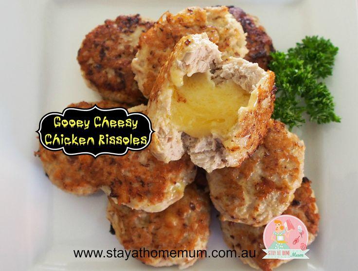Gooey Cheesy Chicken Rissoles   Stay at Home Mum