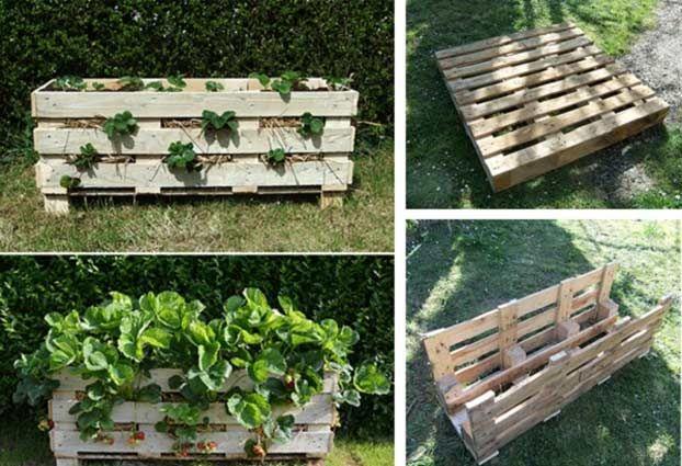 Arredare il giardino con le fioriere in pallet di legno