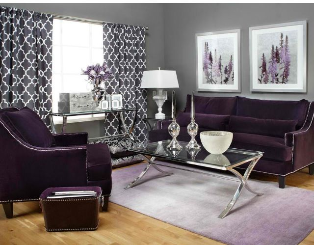 Purple Couch I Love The Color Purple Splash Long Curtains Cozy Room Decorating Delights