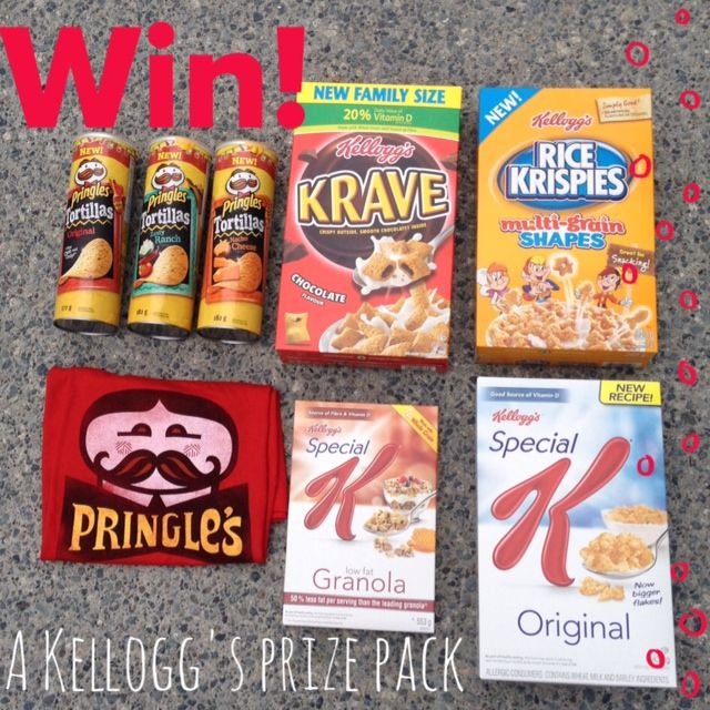 Ends tonight! Enter to WIN a Kellogg's prize pack including the all-new Pringles Tortilla chips. #CANwin