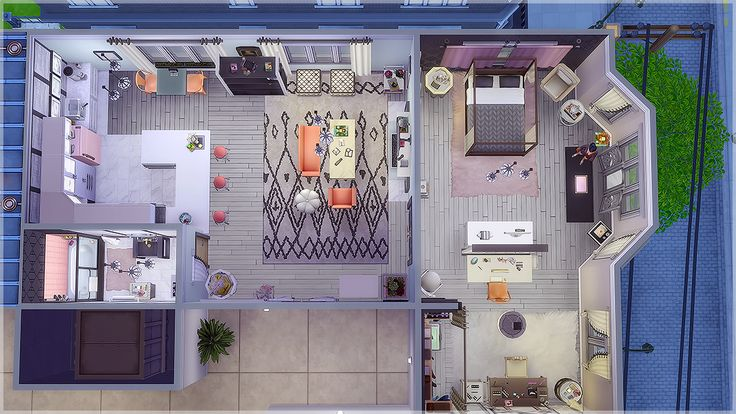 the Glamourista Apartment Perfect for a social... | Vicarious Sims
