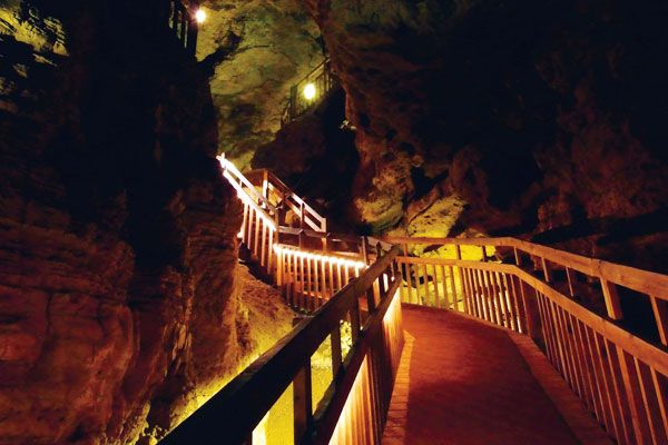 Crystal Cave, Spring Valley, WI is always a fun stop along the way!