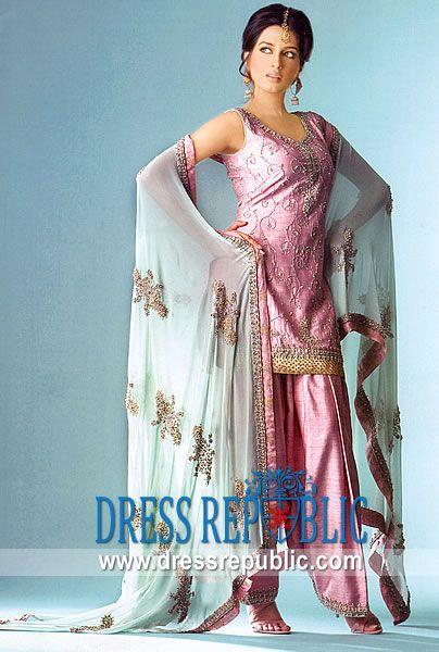 Pink Tewkes, Product code: DR2311, by www.dressrepublic.com - Keywords: Pakistani Boutiques Illinois, Indiana, Ohio USA, Pakistani Shalwar Kameez Online Shops