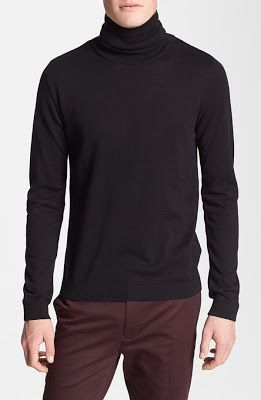 Topman Jersey Turtleneck Sweater