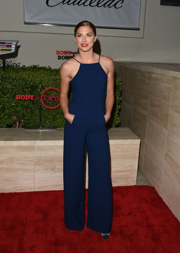 "At ESPN's annual ""Body Issue"" party, Alex Morgan redefined jumpsuits forever: 