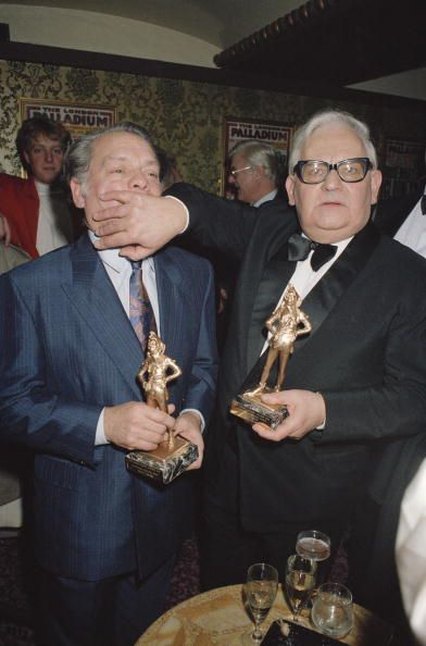 David Jason and Ronnie Barker with their statuettes at the British Comedy Awards held at the London Palladium 28th November 1990 Jason won the Best...