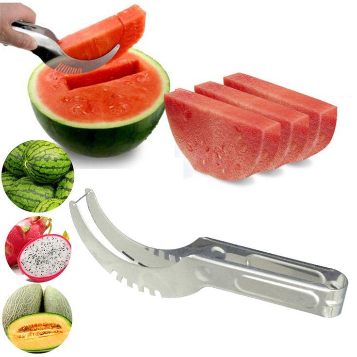Pastèque Cutter couteau Cucumis melon Cutter Chopper salade de fruits concombre légumes Fruit trancheuses cuisine outils de cuisine gadgets