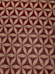 African Textile Real Wax Fabric Red Flower Design 100% Cotton Party rw502410
