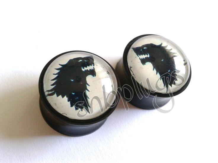 #plugs #juegodetronos #gameofthrones Stark dilatadores ear plugs Juego de tronos por SWEETHORRORBABY, €18,00