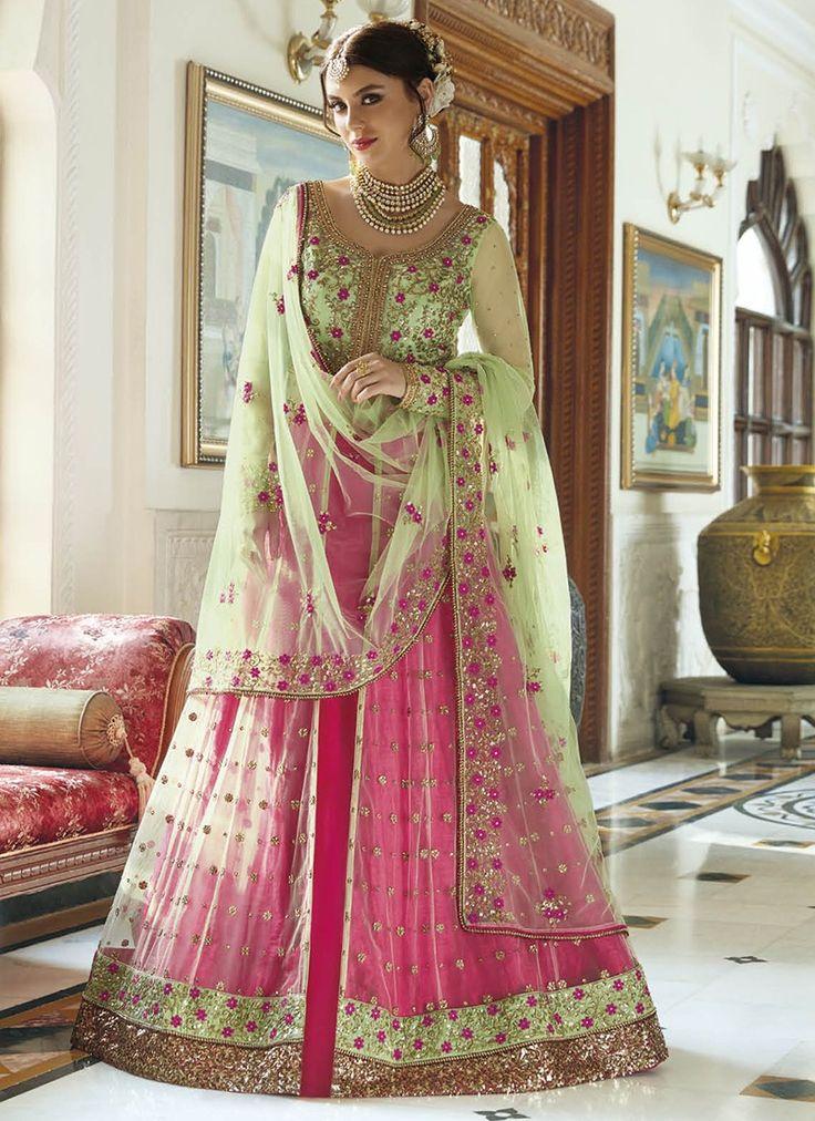Pink Heavy Embroidered Designer Anarkali Suit  https://www.ranafashions.in/salwar-suits/pink-heavy-embroidered-designer-anarkali-suit.html
