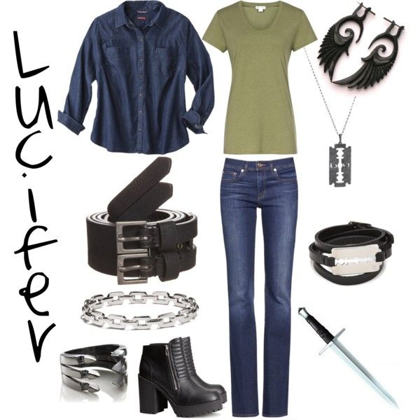 Outfit inspired by Supernatural character Lucifer (as played by Mark Pellegrino) by shadowsintime on Polyvore