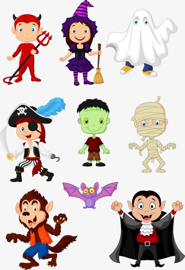 Vector Halloween Cartoon Animals Cartoon Clipart Halloween