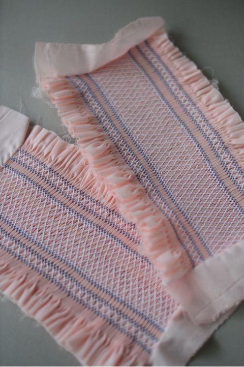 スモッキング刺繍のサマードレス♪ の画像 スモッキング刺繍教室 スモッキング・コルベイユ 東京恵比寿