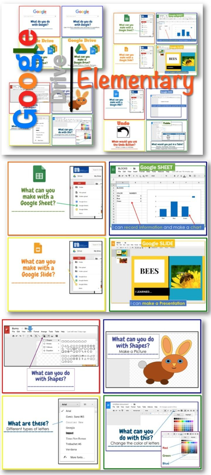 •	These program screen shots, pictures and questions are designed to spark a discussion or inquiry into what elementary students can do with Google Drive.  Show the Picture and Question, discuss as a class and then have students go to their computers to explore Google Drive