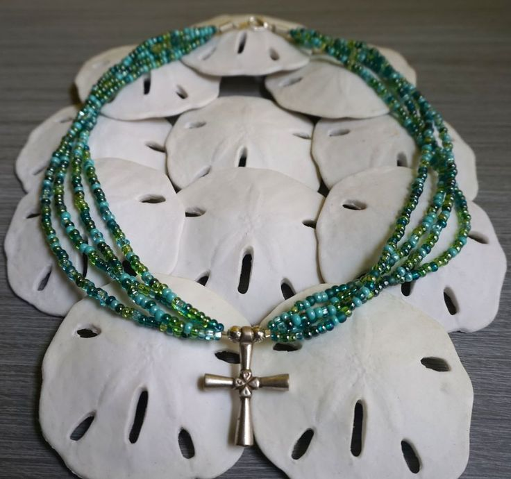 Statement Necklace Featuring Ethiopian Orthodox Cross Pendant With Glass Beads #Handmade