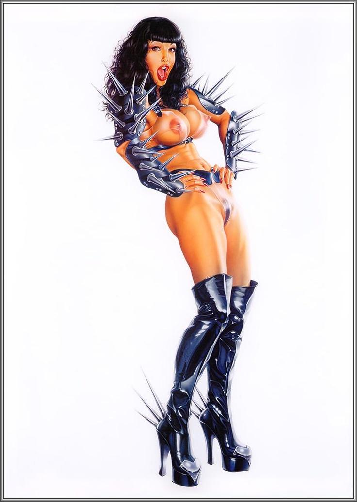 Armando Huerta | Erotic Pin Up girl | Illustrated modern ...