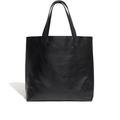 Madewell - The Transport Tote in true black (w/ black handles) $168