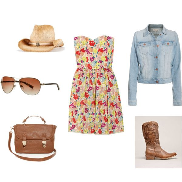 Calgary Stampede Ready!  Love this country-cowgal look...I'd totally wear this.