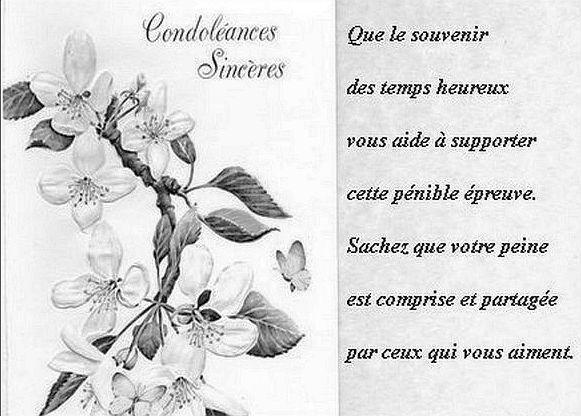 Bien Connu Carte De Condoleances Gratuites A Imprimer Message De Md98 Carte Deces Cartes Gratuites Cartes Gratuites A Imprimer