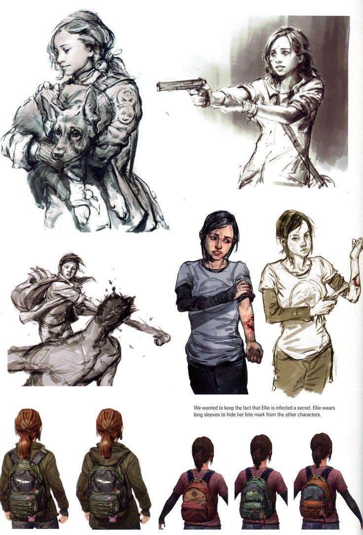 Character Design History : The last of us art book history meno istorija