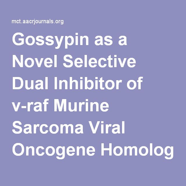 Gossypin as a Novel Selective Dual Inhibitor of v-raf Murine Sarcoma Viral Oncogene Homolog B1 and Cyclin-Dependent Kinase 4 for Melanoma