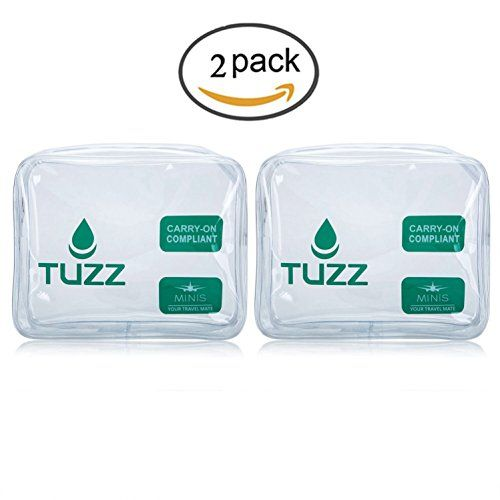 (Pack 2) TSA Approved Clear Travel Toiletry Bag quart bags with zipper for men women | Airline 3-1-1 carry on compliant bag. For product & price info go to:  https://beautyworld.today/products/pack-2-tsa-approved-clear-travel-toiletry-bag-quart-bags-with-zipper-for-men-women-airline-3-1-1-carry-on-compliant-bag/