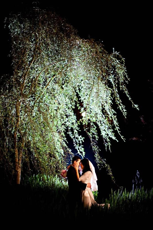 Gorgeous Evening Wedding Photo At Little Gardens, Lawrenceville, GA