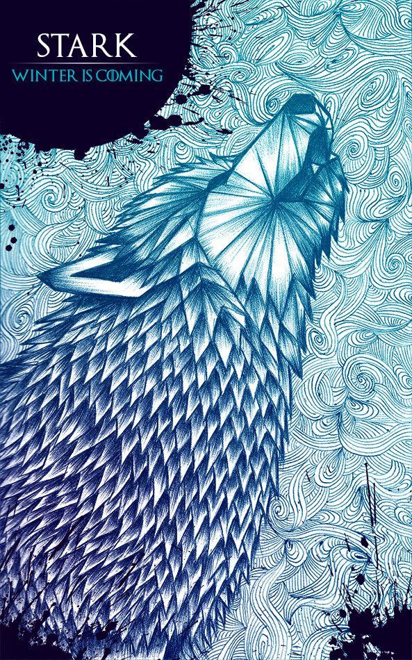 Beautiful Game of Thrones Poster Art.