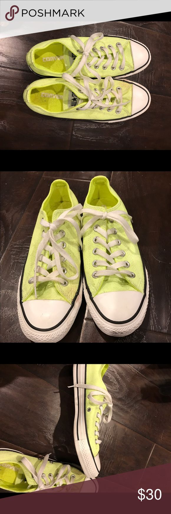 Converse Neon Yellow converse Converse Shoes Sneakers