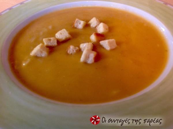 Σούπα βελουτέ με κριθαράκι #sintagespareas